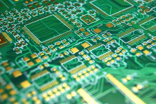 Printed circuit board green electronic background