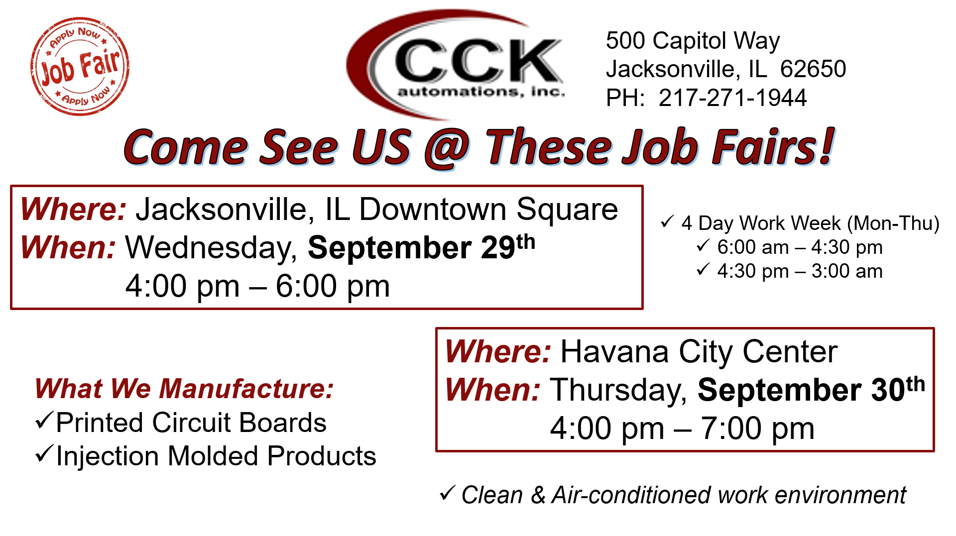 Job Fair Click to see details